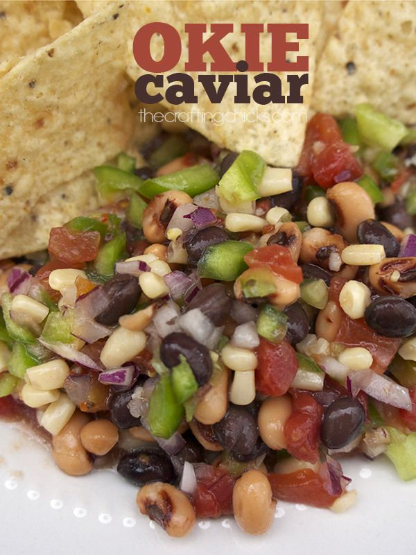 Okie Caviar - So colorful and easy to throw together with cans from the pantry!