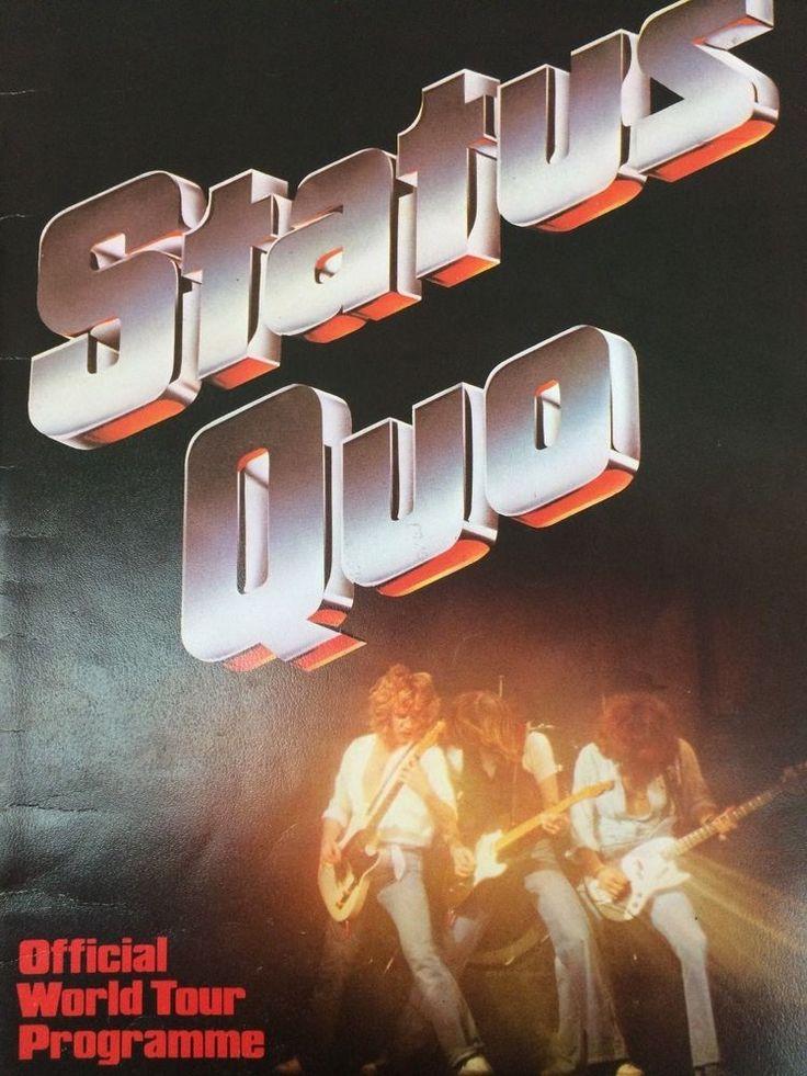 Status Quo, World Tour Programme, Inc 2 ticket stubs 1979