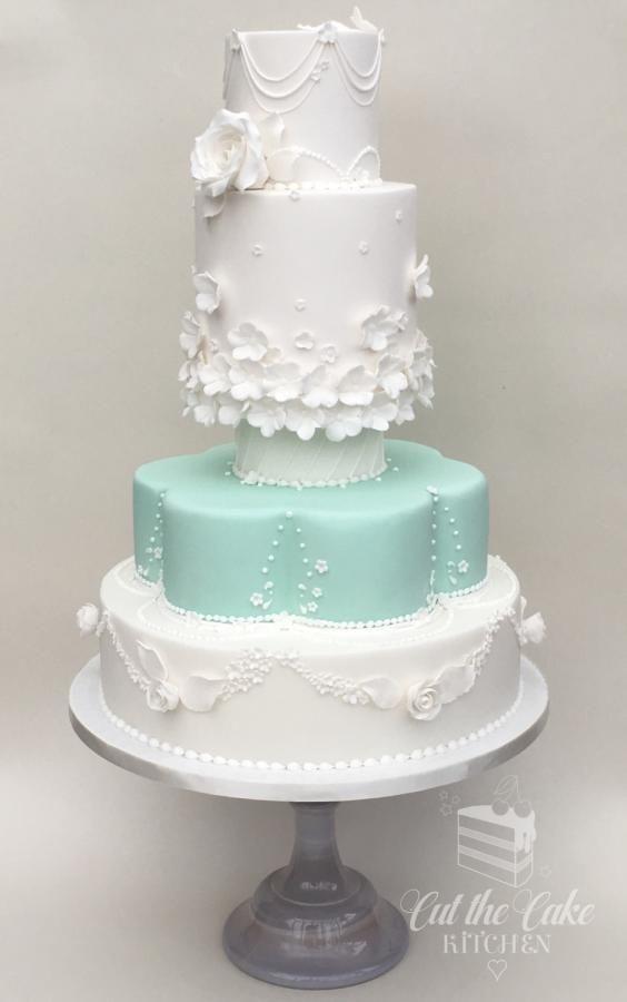Retro Wedding Cake by Emma Lake - Cut The Cake Kitchen - http://cakesdecor.com/cakes/275491-retro-wedding-cake