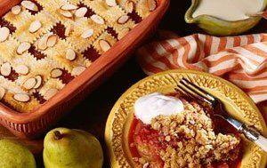 Apricot Cobbler with Custard Sauce Recipe - Details, Calories, Nutrition Information | RecipeOfHealth.com