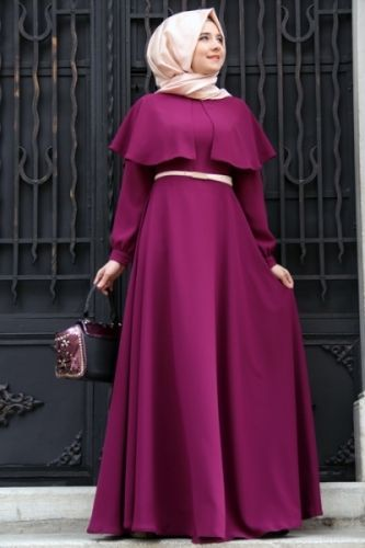 Mevre - Plum Cloak Dress