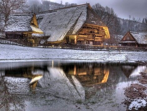 Vogtsbauernhof Gutach im Winter