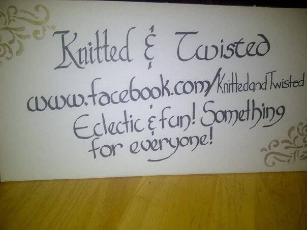 New sign I just whipped together prior to our most recent show :D