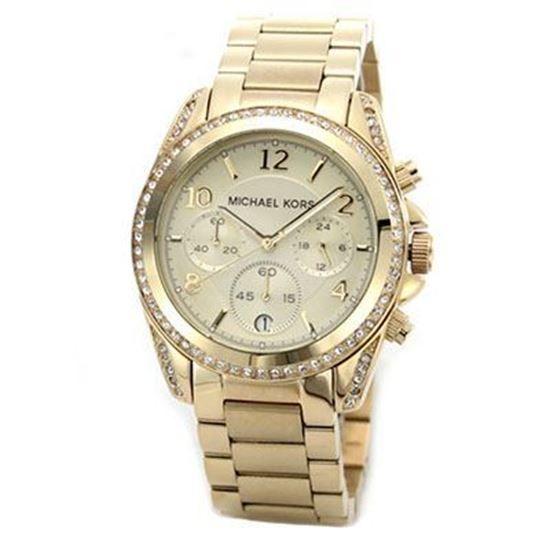 Sorprendente michael kors modello cronografo ha una cassa placcata in pvd oro…