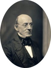 William Lloyd Garrison - important abolitionist and suffragist during the 1800's.  By coincidence, Jim Garrison, District Attorney for New Orleans fought for justice also.  He was the only person to bring charges in the assassination of JFK.