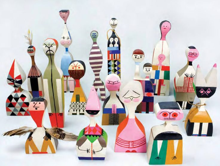 Alexander Girard 60's Creatives Dolls design colors http://www.grapheine.com/divers/alexander-girard-design
