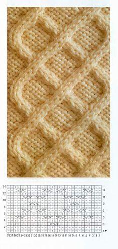 Cable stitch tejer patrón de tejer patrón # 100