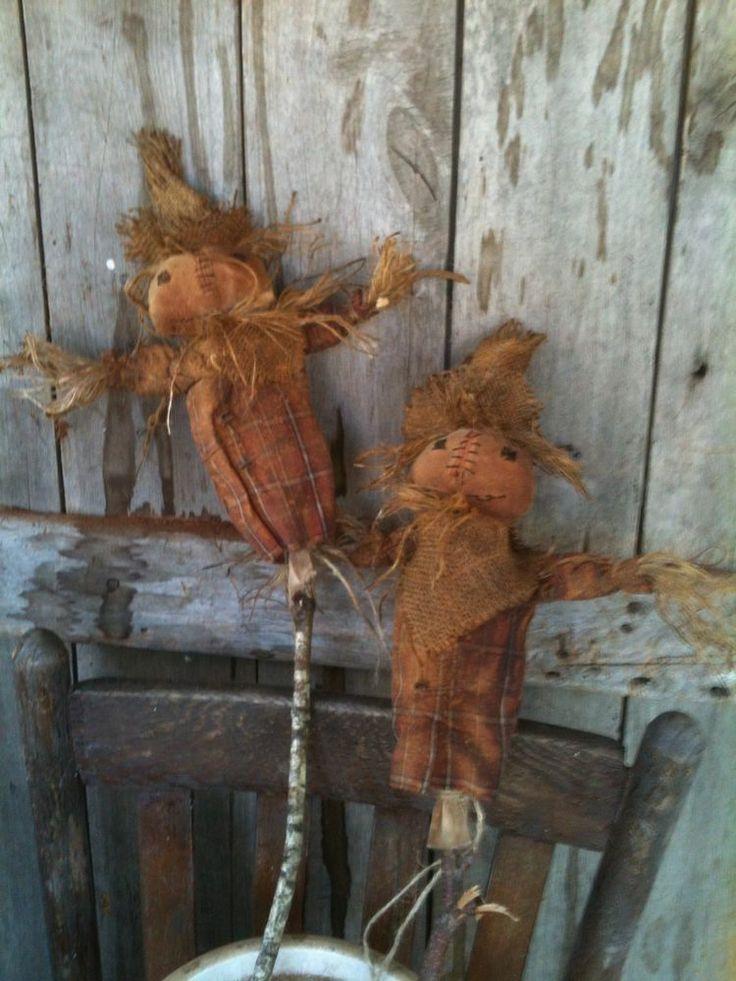 Primitive Scarecrow Doll Pokes For Crock Basket Bucket Barrel farmhouse #NaivePrimitive
