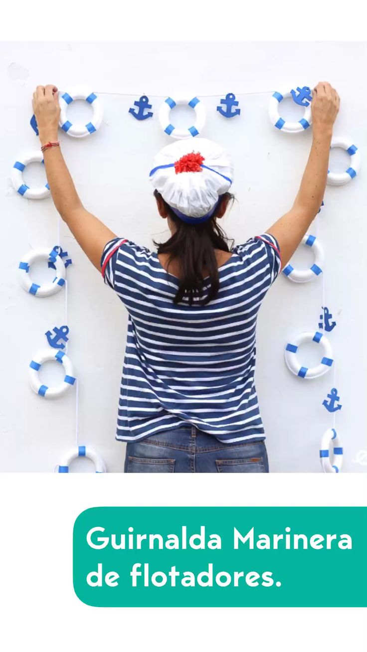Painting Sheets, Sailor Birthday, Diy Garland, Nautical Wedding, Craft Party, Summer Wreath, Diy Wall Decor, Birthday Party Decorations, Fabric Flowers