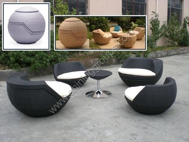 Modern Outdoor Furniture Like A Giant Pottery Vase Or Indian Wicker Basket
