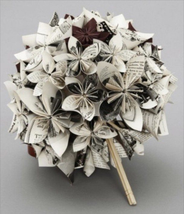 mooi | Origami bloemen bruidsboeket Door Marlie