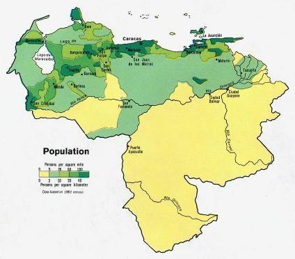 mapa de la poblacion rural de venezuela - Buscar con Google