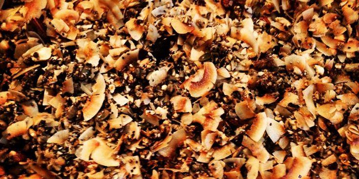 Grain-free, Sugar-free Coconut Granola