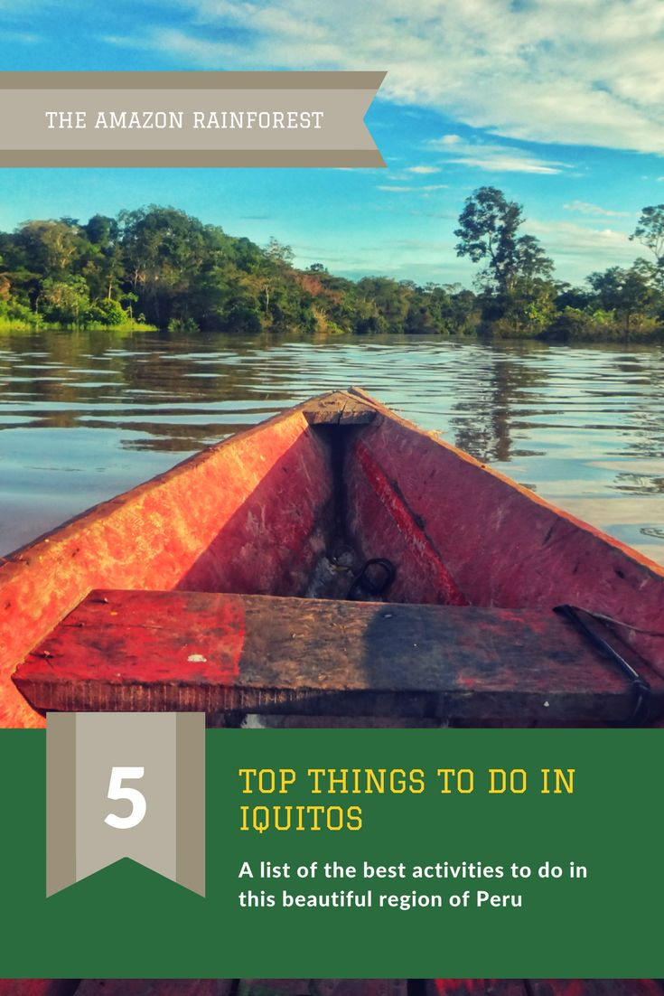 The ultimate travel guide for activities and things to do in a trip to Iquitos, the Amazon Rainforest in Peru.