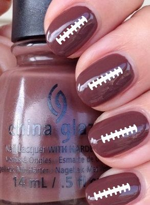 Football Ties Vinyl Nail Decals Stickers by CutecraftycreationUT