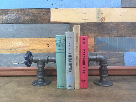 Industrial Bookends Industrial Steampunk by TheCleverRaven on Etsy