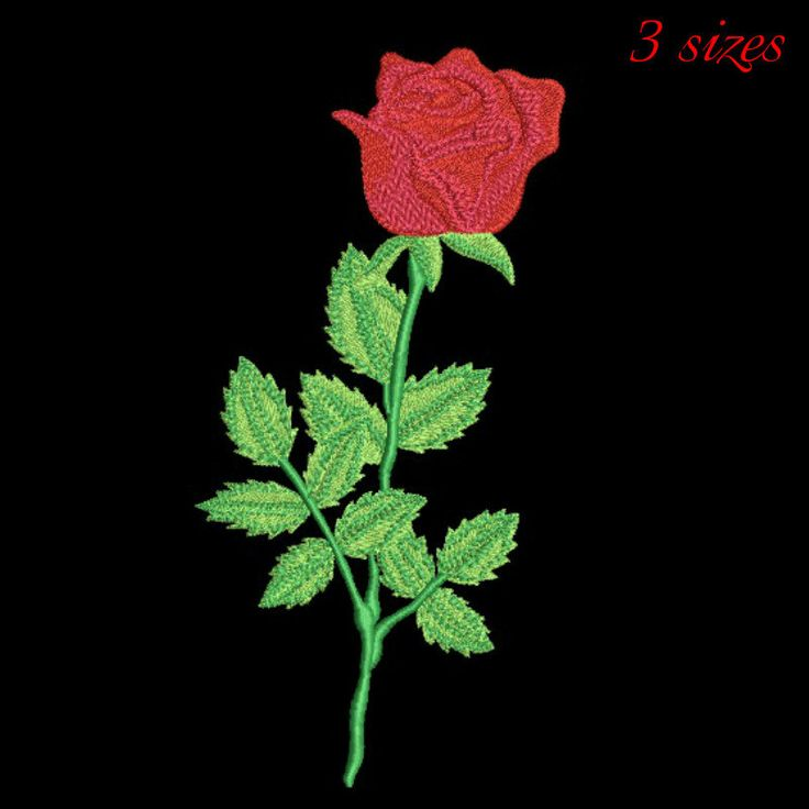 Rose embroidery design, Flowers pattern, instant download by GretaembroideryShop on Etsy