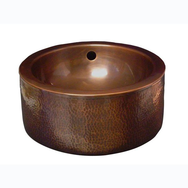 Barclay Products Vessel Sink In Hammered Antique Copper Copper Home And Home Depot