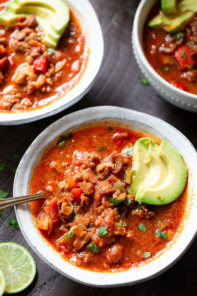 This Easy Instant Pot Beef Chili Is Packed With Everything You Re Craving Savory Ground Beef And Instant Pot Paleo Ground Beef Paleo Recipes Instant Pot Beef