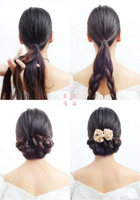 bridal hair tutorial h a i r pinterest