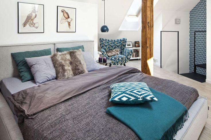 Mała sypialnia na antresoli