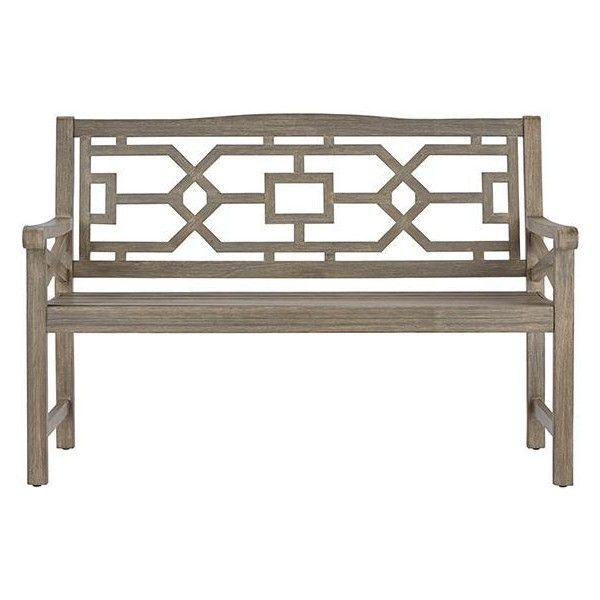 Blue Hill Outdoor Garden Bench (u20ac290) ❤ Liked On