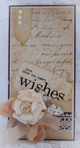 Live the Dream .......: Rolled Rose Shabby Posies Tutorial