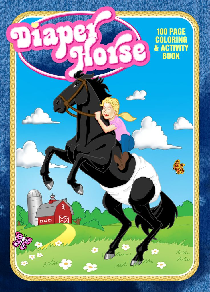 Diaper Horse Coloring Book Cover Illustration By Jack