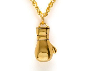 Gold boxing glove necklace  Thai boxing necklace boxing pendant Muay Thai boxing charm glove boxing gift MMA fighting glove