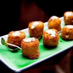 Cod fritters with whole grain mustard from Tribeca Grill in New York ...