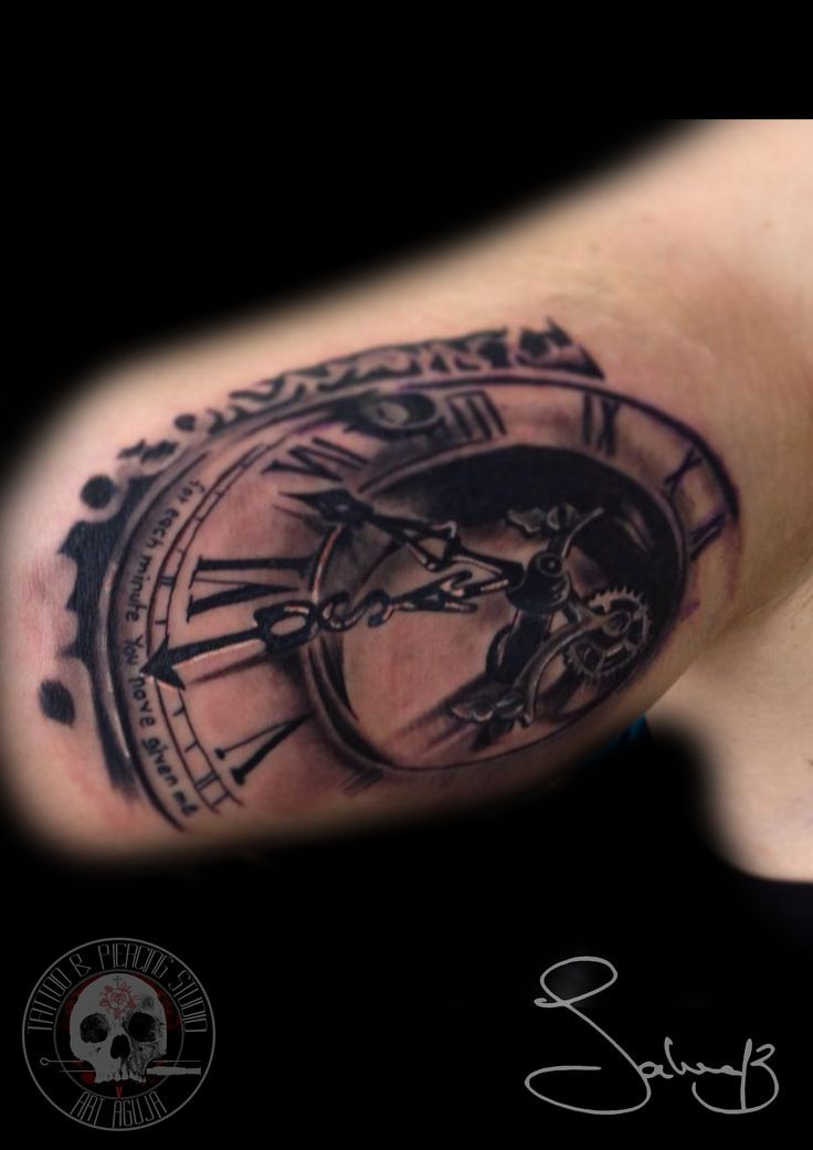 clock tattoo uhr tattoo by salvatore chindamo art aguja tattoo tattoo vorlagen pinterest. Black Bedroom Furniture Sets. Home Design Ideas