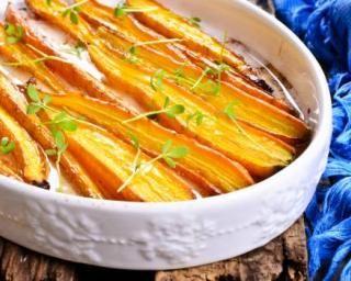 Carottes à l'orange et au curry minceur rôties au four