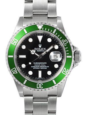Rolex Submariner Green Dial Mens Watch 16610LV