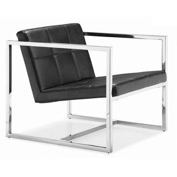 Best Whiteline Imports Lisa Chair Modern Lounge Chairs Black 400 x 300