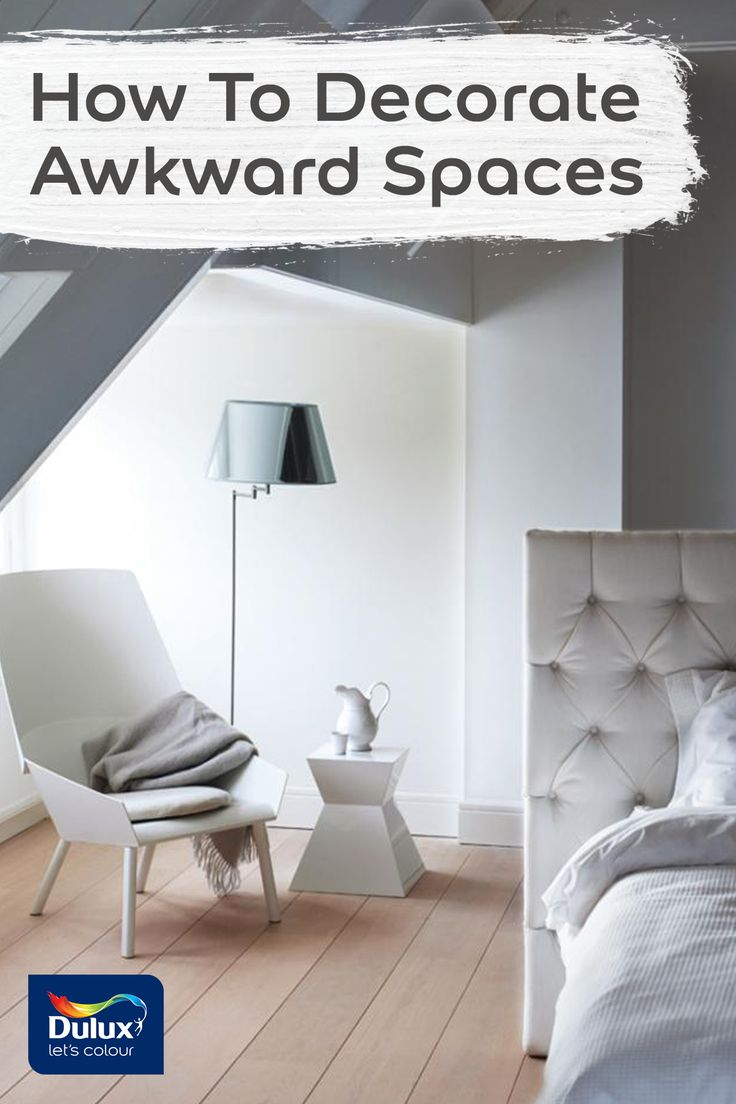 Narrow hall, pitched room or L-shaped room? No problem with these ideas on how to decorate awkward spaces.