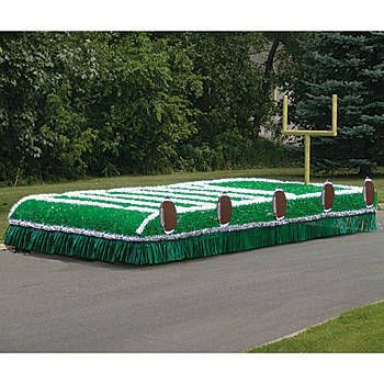 Dress up your float for your Homecoming or town's parade with our Football Metallic Parade Float Kit. This kit comes with your choice of material colors