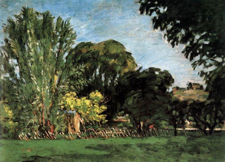 CEZANNE,1875-76 - Trees in the Jas de Bouffan« Il y a des motifs qui demanderaient trois ou quatre mois de travail, qu'on pourrait trouver, car la végétation n'y change pas. Ce sont des oliviers et des pins qui gardent toujours leurs feuilles…. » (CEZANNE à Pissarro, L'Estaque, 2 juillet 1876)