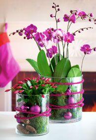 Dekoration med orkide.