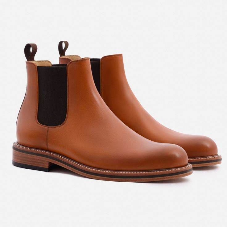 Preston Chelsea Boot - Calfskin Leather - Tan