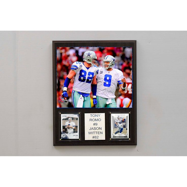 NFL 12in x15in Tony Romo & Jason Witten Dallas Cowboys Player Plaque