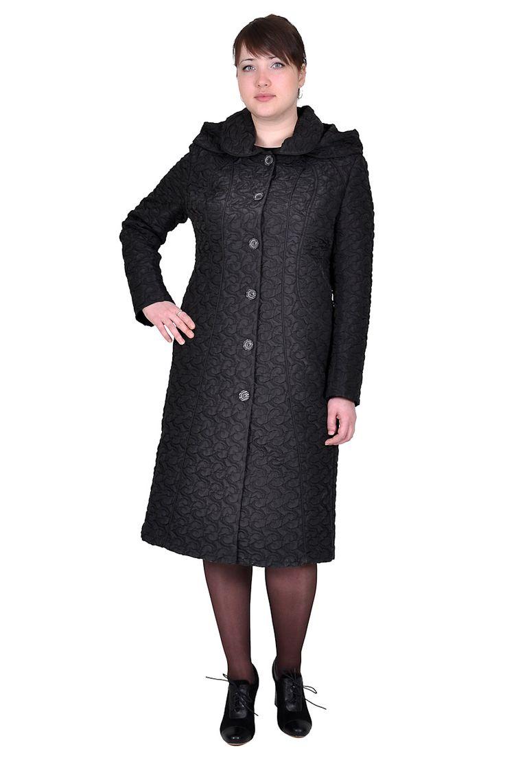 Пальто черного цвета для игры аксессуарами