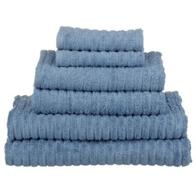 GLO #Organic #Cotton #FairTrade Bath Towels (Faded Denim).
