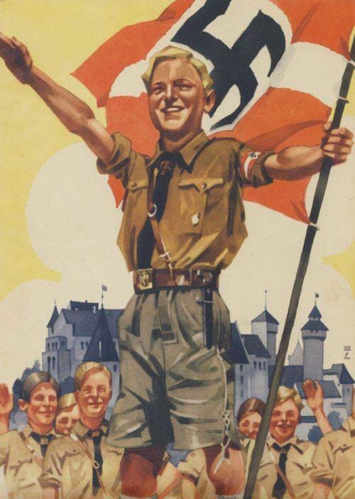 """derdeutschenmadel: """" Hitler-jugend recruitment poster """""""