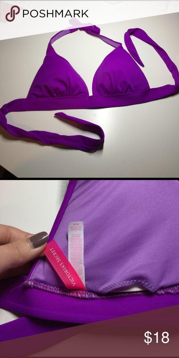 Victoria's secret push up purple bikini top Halter push up style. Size medium, purple . From Victoria's Secret . Victoria's Secret Swim Bikinis