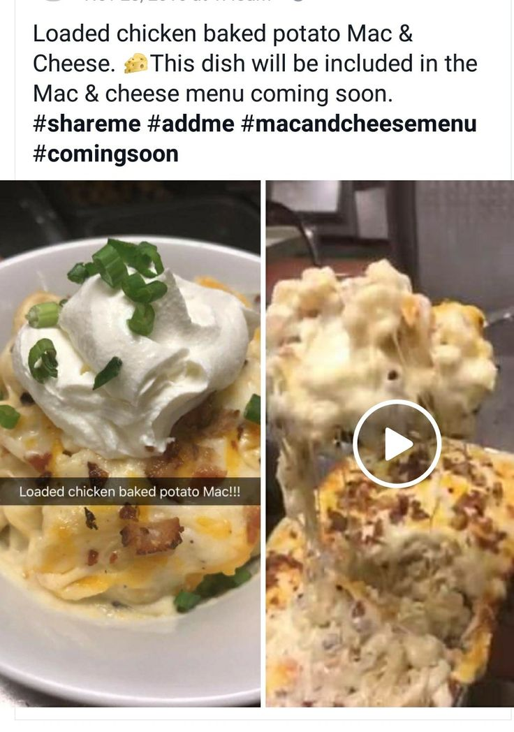 loaded chicken baked potato mac & cheese