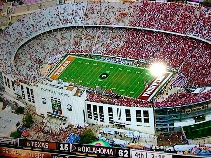 Attend an OU-Texas game # 37 on my bucket list
