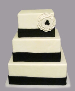 Black & White Wedding Cake from BellaRoca Cakes