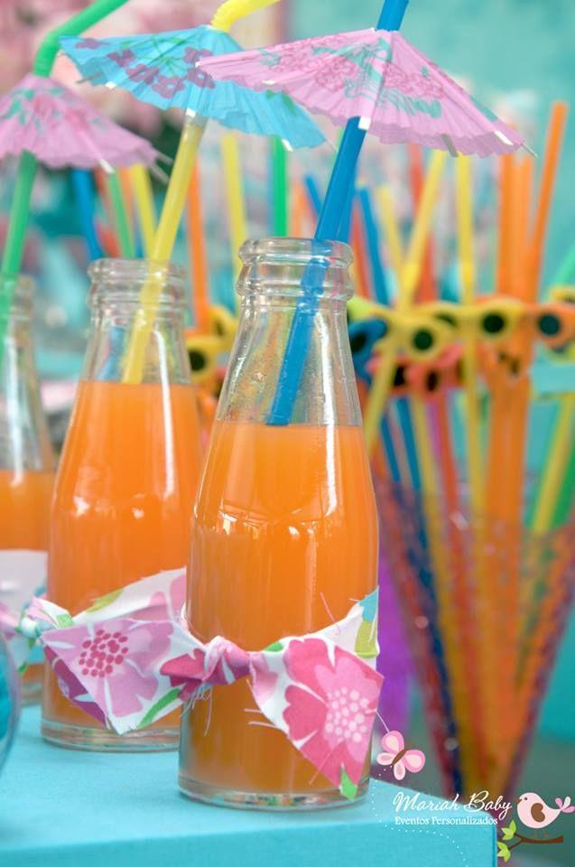 Pool Party | Suco decoração pool party | Decoração by Mariah festas #poolparty #festanapiscina