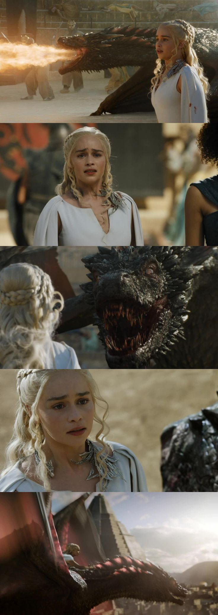 Loved this scene. Completely unforgettable it almost brought me to tears! ~Daenerys Targaryen and Drogon~