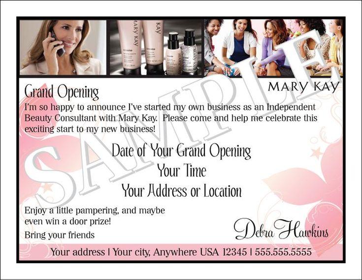 Mary Kay Business Debut Invitation | Mary Kay | Pinterest ...